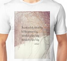 Miles to Go Robert Frost Unisex T-Shirt