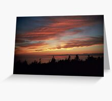Cabot Trail Sunset Greeting Card