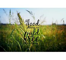 Thoreau wild free Photographic Print
