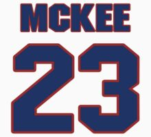 Basketball player Jerry McKee jersey 23 by imsport