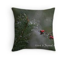 Joyous Holiday Throw Pillow