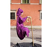 levitate girl in Old Town in Warsaw  Photographic Print