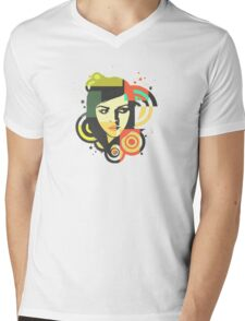 Alternate Colours Mens V-Neck T-Shirt
