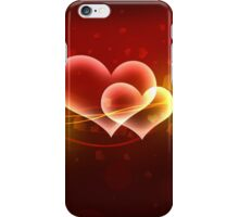 Abstract valentine background iPhone Case/Skin