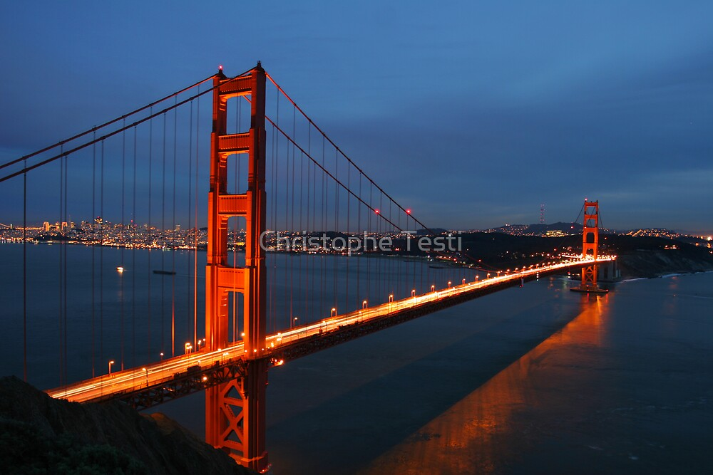 Golden Gate Bridge by Christophe Testi