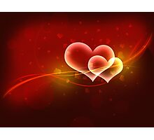 Abstract valentine background Photographic Print