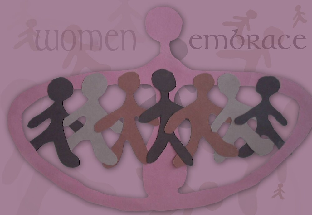 "Women Embrace  by Robin ""Durga"" Hoffman"