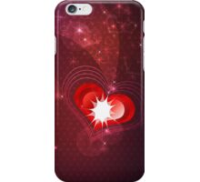 Background with red heart iPhone Case/Skin
