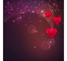 Background with red heart 2 Photographic Print