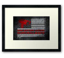 One Nation Under Surveillance - ihone & Laptop shell Framed Print