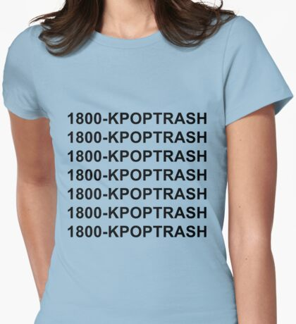 1800 kpop trash in black Womens Fitted T-Shirt