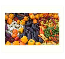 Cornucopia-Farmers market in Santa Barbara Art Print