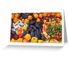 Cornucopia-Farmers market in Santa Barbara Greeting Card