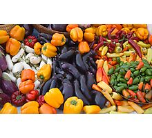 Cornucopia-Farmers market in Santa Barbara Photographic Print