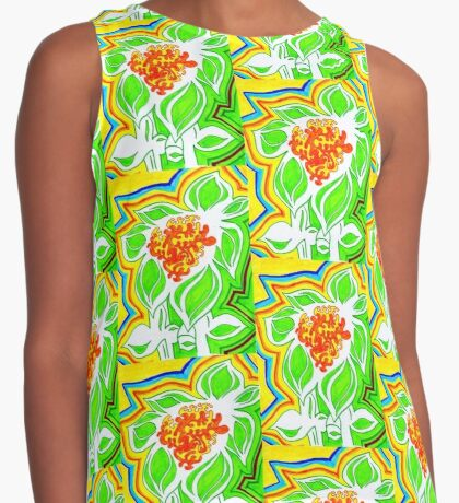 Sun and Flower Contrast Tank