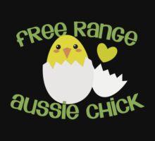 Free range Aussie Chick (Australian woman) Baby Tee