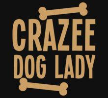 Crazee Dog lady Kids Tee