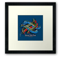 Macbeth Tartan Twist Framed Print