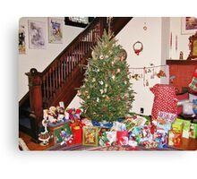 Christmas Scene With Dalek Canvas Print