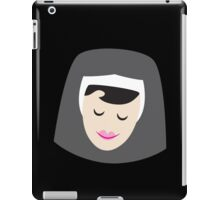 a smiling simple nun in a wimple iPad Case/Skin
