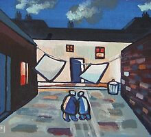 The backyard (from my original acrylic painting ) by sword