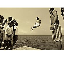 Flying out Sao Tome Photographic Print