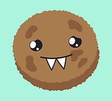 cute kawaii cookie monster face by jazzydevil