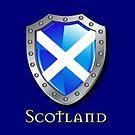 Scotland Saltire Shield by eyemac24
