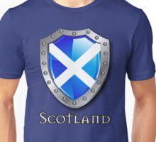 Scotland Saltire Shield Unisex T-Shirt