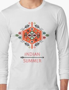 Pattern in native american style Long Sleeve T-Shirt