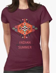 Pattern in native american style Womens Fitted T-Shirt