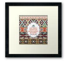 Pattern in native american style Framed Print