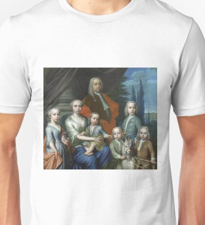 Frans Decker - Willem Philip Kops (1695-1756), With His Wife And Children, 1738 Unisex T-Shirt