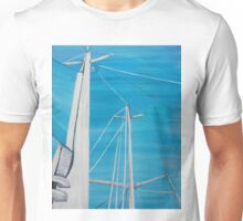 Sailboat sail Amel 3 Oil on Canvas Painting Unisex T-Shirt