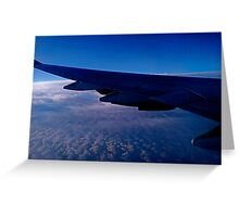 Blue Flight Greeting Card