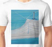 Sailboat sail Amel 4 Oil on Canvas Painting Unisex T-Shirt