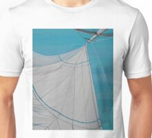 Sailboat sail Amel 2 Oil on Canvas Painting Unisex T-Shirt