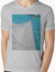 Sailboat sail Amel 2 Oil on Canvas Painting Mens V-Neck T-Shirt