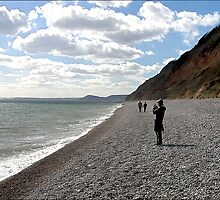 Branscombe Beach on the Jurassic coast . by SWEEPER