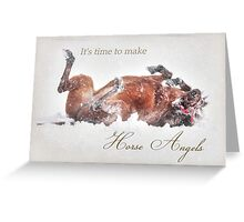 Horse Angels Greeting Card