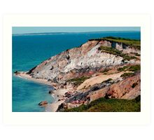 Aquinnah Clay Cliffs in Martha's Vineyard, MA Art Print