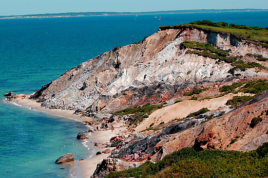Aquinnah Clay Cliffs in Martha's Vineyard, MA by Roslyn Lunetta