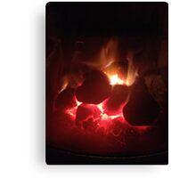 Warming Fire Canvas Print