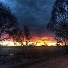 sunset out on the farm by BigAndRed