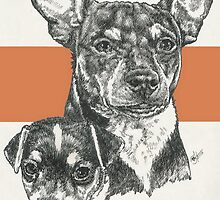 Rat Terrier, Father & Son by BarbBarcikKeith
