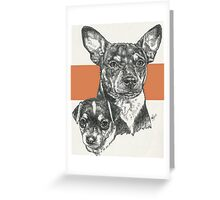 Rat Terrier, Father & Son Greeting Card