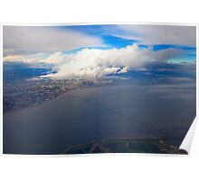 sky. lisbon and tagus river Poster