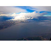 sky. lisbon and tagus river Photographic Print