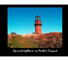 Aquinnah Light House Photographic Print