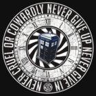 Never Cruel Or Cowardly - Doctor Who - TARDIS Clock by createdezign